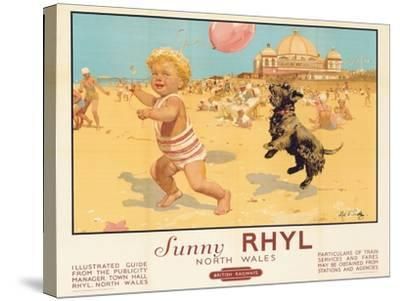Sunny Rhyl-Septimus Edwin Scott-Stretched Canvas Print