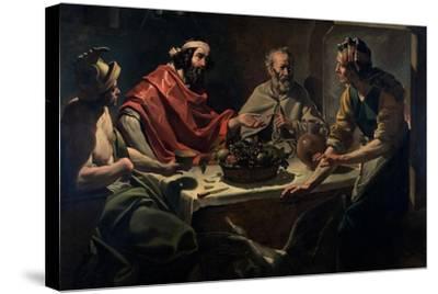 Philemon and Baucis Entertaining Jupiter and Mercury, C.1615-25-Abraham Janssens Van Nuyssen-Stretched Canvas Print