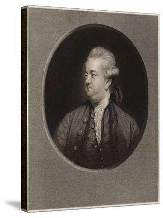Edward Gibbon-Sir Joshua Reynolds-Stretched Canvas Print