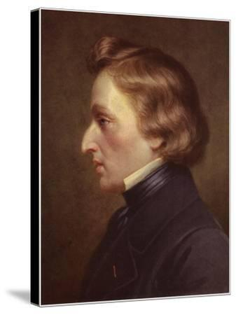 Portrait of Frederic Chopin--Stretched Canvas Print