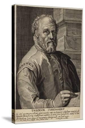 Portrait of Theodore Cornhert-Hendrik Goltzius-Stretched Canvas Print