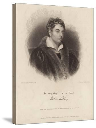 Portrait of Robert Southey-Thomas Phillips-Stretched Canvas Print