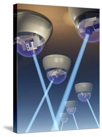 Surveillance Cameras, Computer Artwork-Laguna Design-Stretched Canvas Print