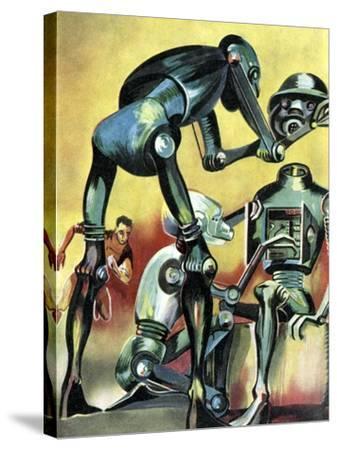 Robot Science-fiction Artwork-CCI Archives-Stretched Canvas Print