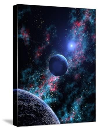 White Dwarf Planets-Julian Baum-Stretched Canvas Print