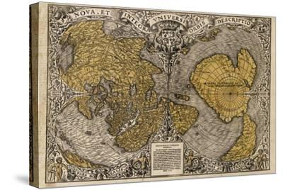 Oronce Fine's World Map, 1531-Library of Congress-Stretched Canvas Print