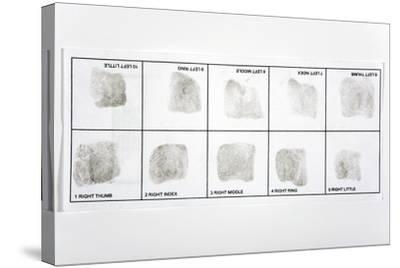 Fingerprint Record Card-Victor De Schwanberg-Stretched Canvas Print
