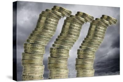 Unstable Economy, Conceptual Image-Victor De Schwanberg-Stretched Canvas Print