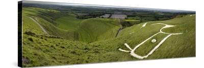 The Uffington Bronze Age White Horse Wide-Paul Stewart-Stretched Canvas Print