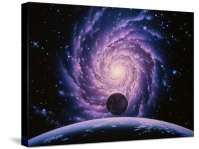 Milky Way Galaxy-Joe Tucciarone-Stretched Canvas Print