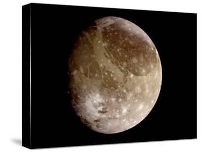 Jupiter's Moon Ganymede--Stretched Canvas Print