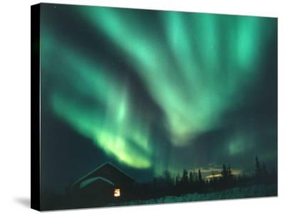 Aurora Borealis-Chris Madeley-Stretched Canvas Print