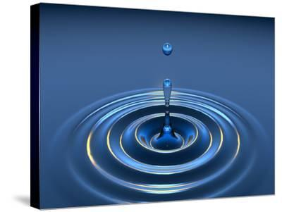 Water Drop-David Parker-Stretched Canvas Print
