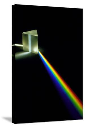 White Light Passing Through a Prism-David Parker-Stretched Canvas Print