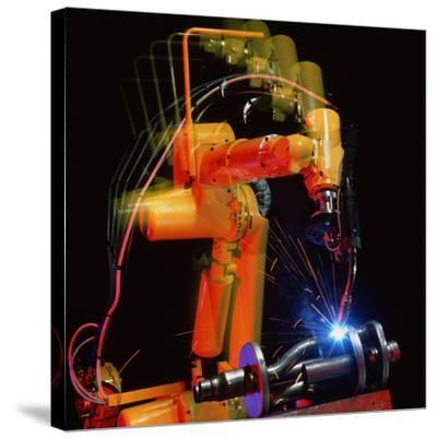 Computer-controlled Electric Arc-welding Robot-David Parker-Stretched Canvas Print