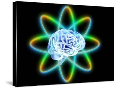 Atomic Brain-PASIEKA-Stretched Canvas Print