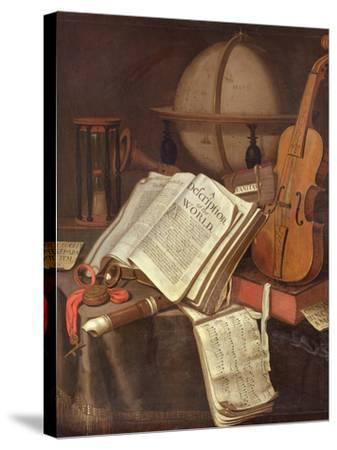 Vanitas, (An Allegorical Still-Life)-Edwaert Colyer or Collier-Stretched Canvas Print
