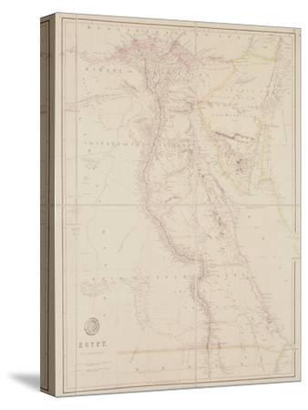 Map of Egypt, 1832-John Arrowsmith-Stretched Canvas Print
