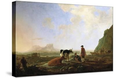 Herdsmen with Cows, C.1645-Aelbert Cuyp-Stretched Canvas Print