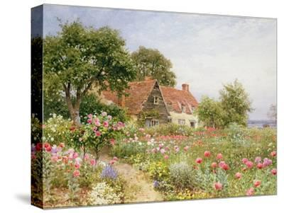 The Cottar's Pride - a Cottage Garden-Henry Sutton Palmer-Stretched Canvas Print