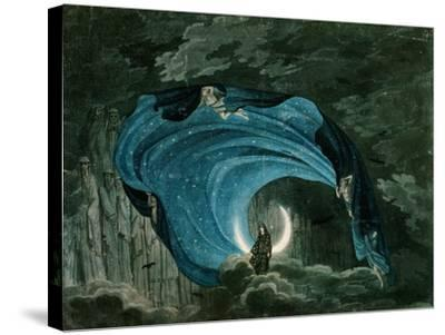 Setting for the Appearance of Astrofiammante, Queen of the Night, from Mozart's 'Magic Flute',…--Stretched Canvas Print