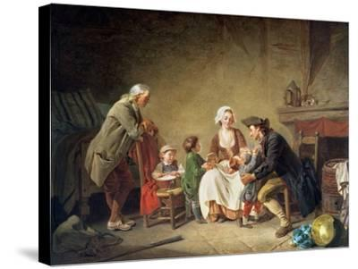 Paternal Love-Etienne Aubry-Stretched Canvas Print
