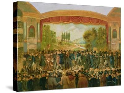 American Theatre, Bowery, New York, Depicting the 57th Night of Mr T.D. Jim Crow Rice (1808-60)…--Stretched Canvas Print
