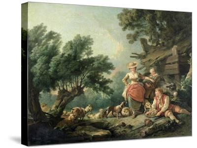 Pastoral Scene-Jean-Baptiste Huet-Stretched Canvas Print