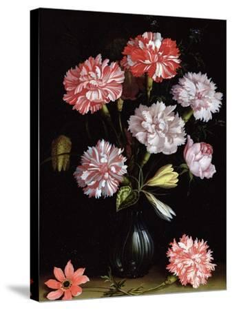 Floral Study: Carnations in a Vase-Balthasar van der Ast-Stretched Canvas Print