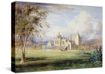 Balmoral Castle, C.1840-James William Giles-Stretched Canvas Print