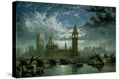 A View of Westminster Abbey and the Houses of Parliament, 1870-John Macvicar Anderson-Stretched Canvas Print