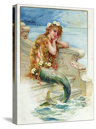 Little Mermaid, by Hans Christian Andersen (1805-75)-E^s^ Hardy-Stretched Canvas Print