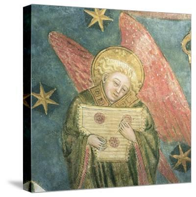 Angel Musician Playing a Psaltery, Detail from the Vault of the Crypt--Stretched Canvas Print