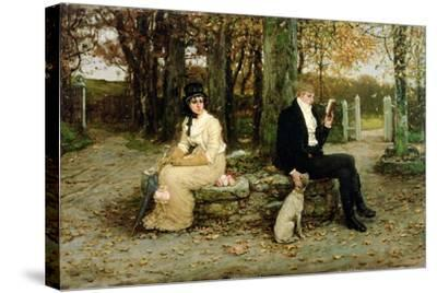 The Waning Honeymoon, 1878-George Henry Boughton-Stretched Canvas Print