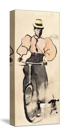 Girl on a Bicycle, C.1896-Joseph Crawhall-Stretched Canvas Print