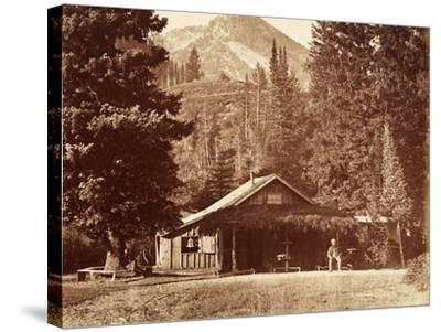 Kessler Peak and Meeks Camp, Big Cottonwood Canyon, Utah, Usa, 1861-75-Carleton Emmons Watkins-Stretched Canvas Print
