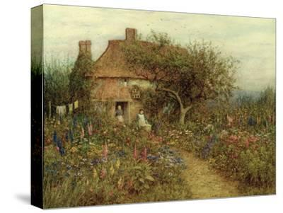 A Cottage Near Brook, Witley, Surrey-Helen Allingham-Stretched Canvas Print
