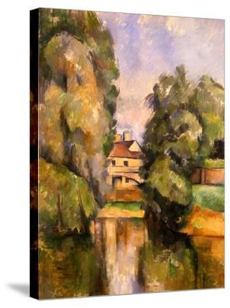 Country House by the Water, C.1888-Paul C?zanne-Stretched Canvas Print
