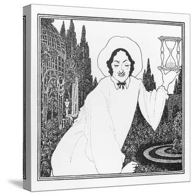 Cover Design to 'The Pierrot of the Minute', 1897-Aubrey Beardsley-Stretched Canvas Print