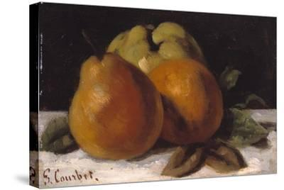 Apple, Pear and Orange, C.1871-72-Gustave Courbet-Stretched Canvas Print