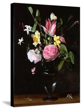 Still Life of Flowers-Daniel Seghers-Stretched Canvas Print