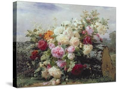 Still Life with Flowers-Jean Baptiste Claude Robie-Stretched Canvas Print