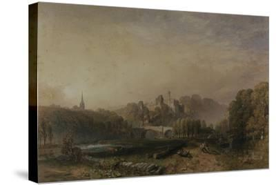 View of Lismore Castle During the 6th Duke of Devonshire's Alterations-Samuel Cook-Stretched Canvas Print