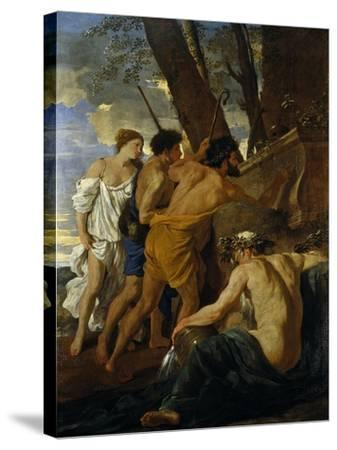 The Arcadian Shepherds-Nicolas Poussin-Stretched Canvas Print