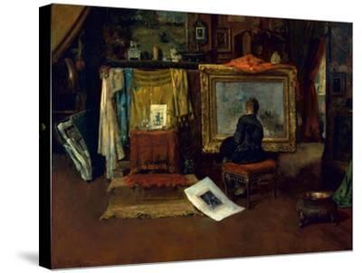 The Inner Studio, Tenth Street, 1882-William Merritt Chase-Stretched Canvas Print