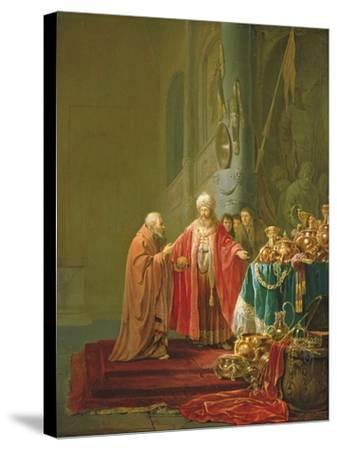 Croesus Showing His Riches to Solon-Willem de Poorter-Stretched Canvas Print