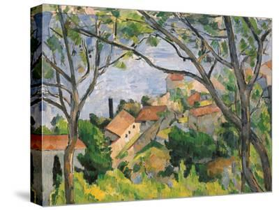 View of L'Estaque Through the Trees, 1879-Paul C?zanne-Stretched Canvas Print
