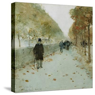 Quai Du Louvre, 1889-Childe Hassam-Stretched Canvas Print