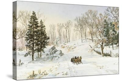 Winter on Ravensdale Road, Hastings-On-Hudson, 1890-Jasper Francis Cropsey-Stretched Canvas Print