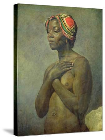 A Black Woman--Stretched Canvas Print